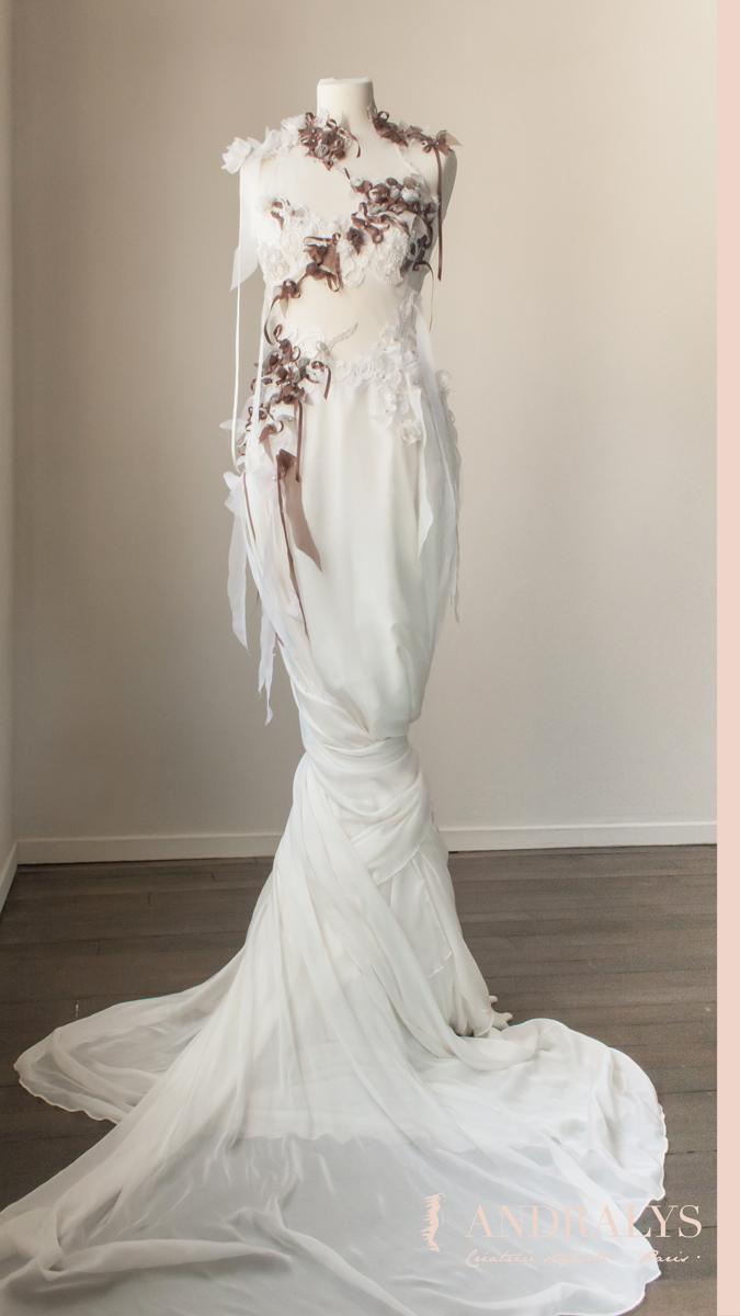 Robe de mariée féerique Nature