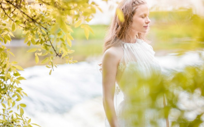 Robe de mariée Bohème en dentelle Mina