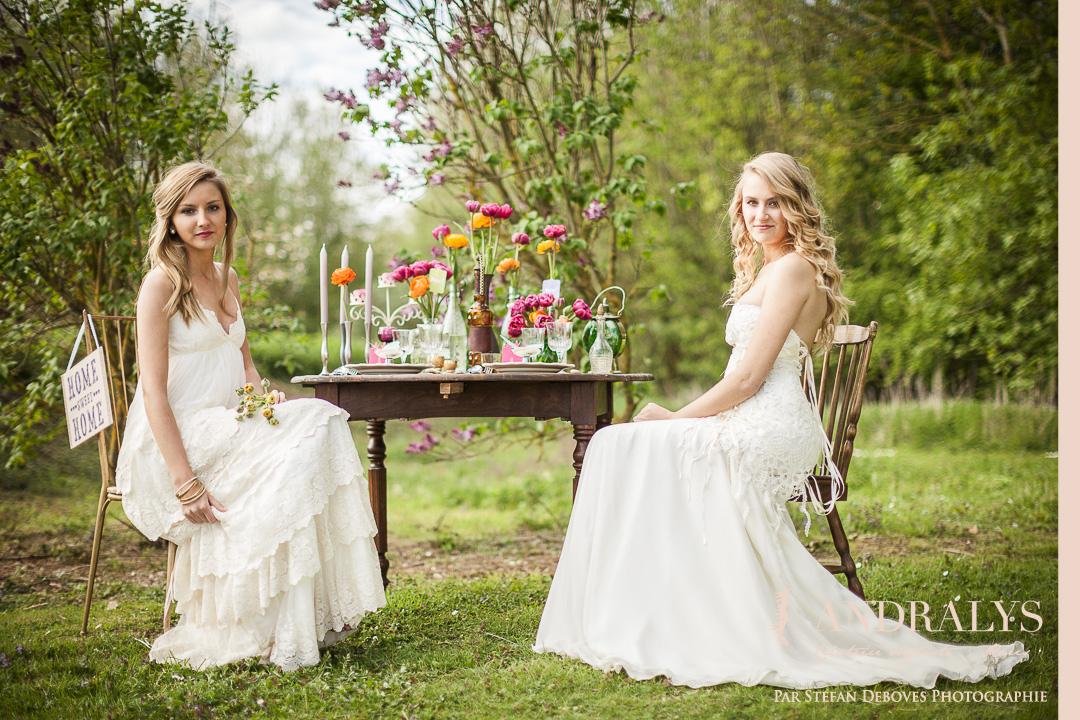 Shooting d'inspiration bohème hippie : robes de mariée Joan et La ...