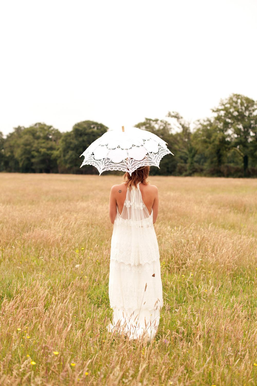Robe de mariée bohème en dentelle à Nantes en Loire Atlantique