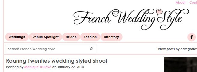 La robe de mariée années 20 Charleston dans French Wedding Style