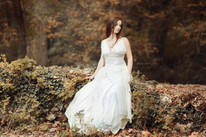 Robe de mariée bohème en Provence