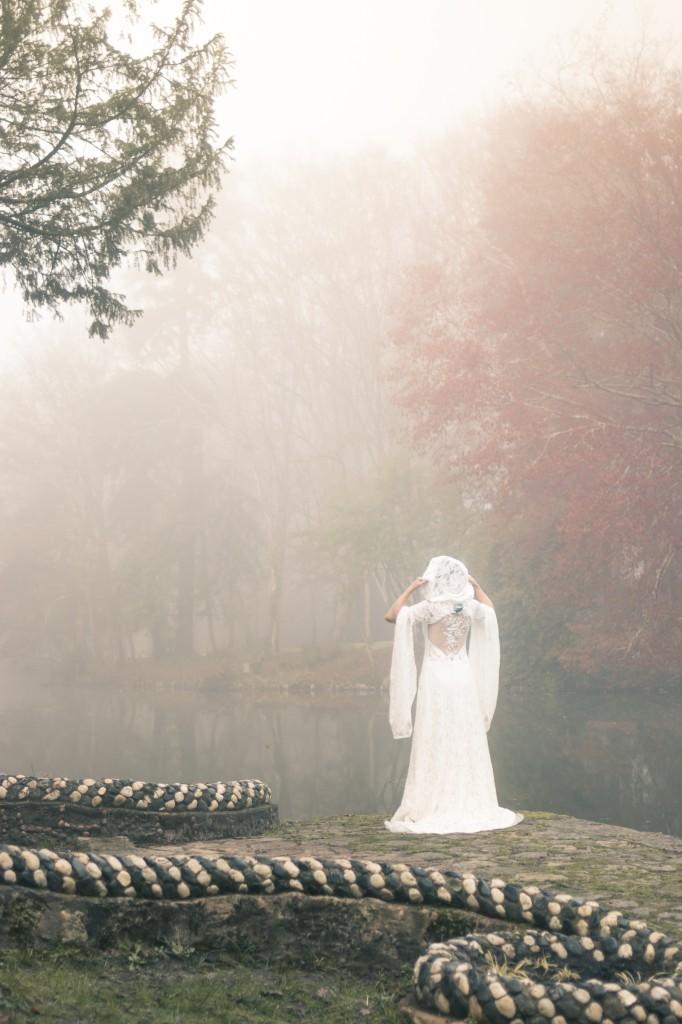 Robe de mariée elfique Dame Blanche Mary-Gabrielle 2