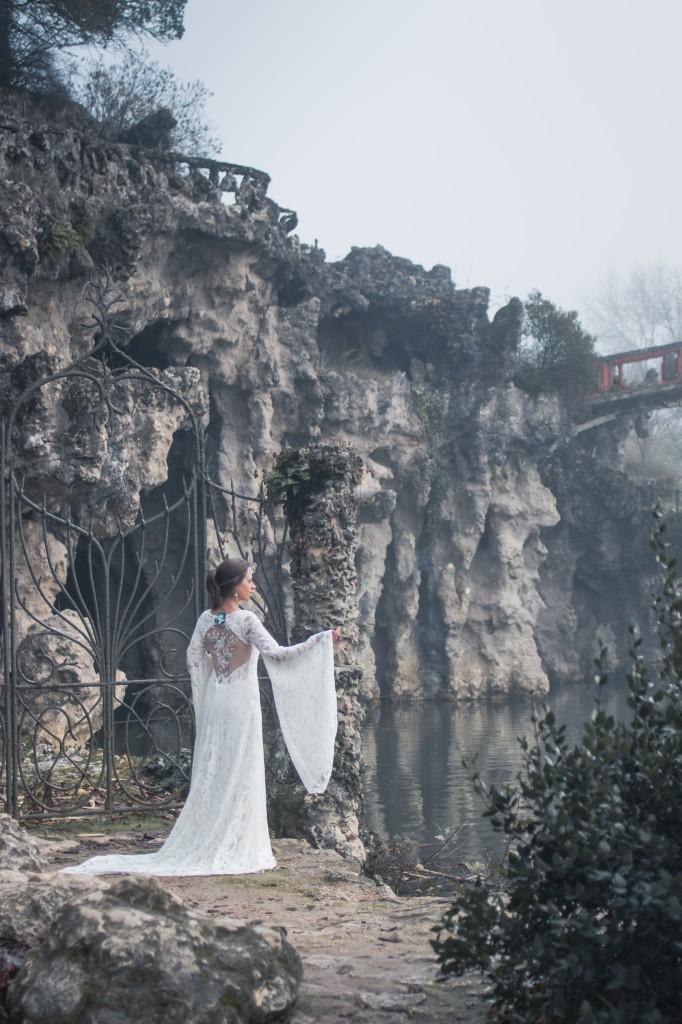 Robe de mariée elfique Dame Blanche Mary-Gabrielle