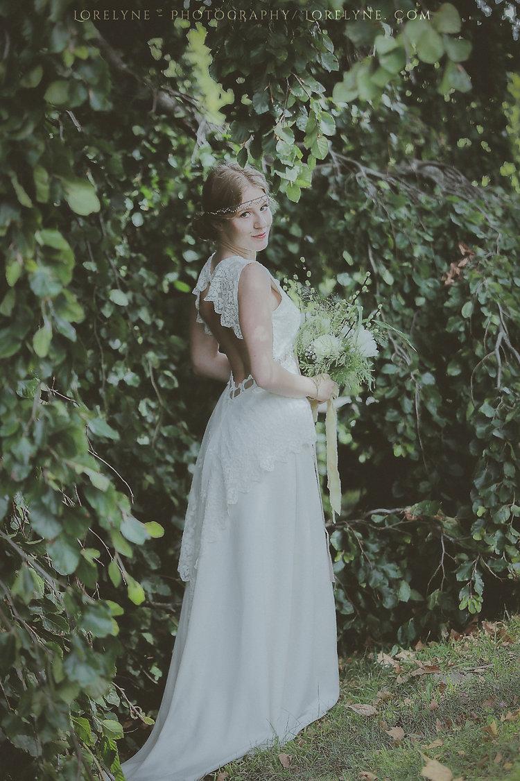 Mariée vegan et mariage vegan et champêtre dans la forêt Bordeaux