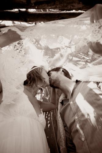 La robe de mariée La Bohème sous le regard de Pimprunelle Photographie.