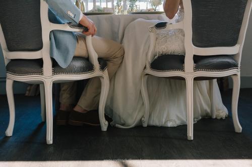 Robe de mariée hippie chic Joan au restaurant Le Gabriel à Bordeaux