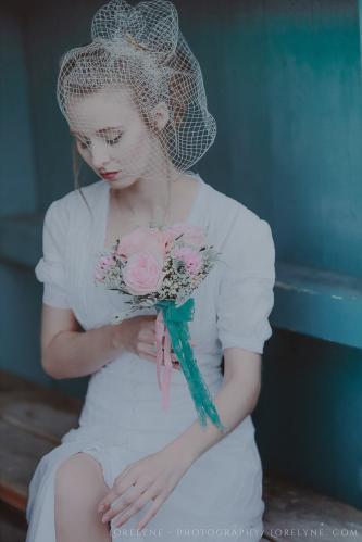 Robe de mariée rétro - vintage Madelyne (28 sur 74)