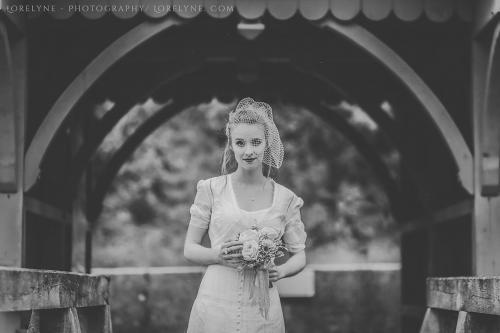 Robe de mariée rétro - vintage Madelyne (32 sur 74)
