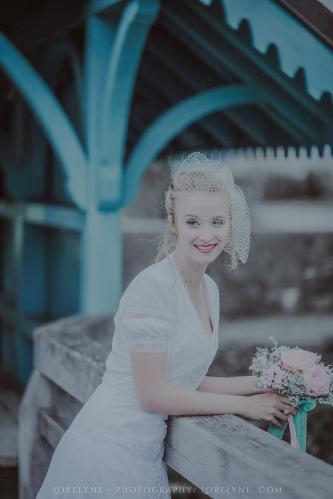 Robe de mariée rétro - vintage Madelyne (33 sur 74)
