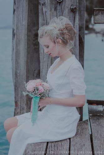 Robe de mariée rétro - vintage Madelyne (45 sur 74)