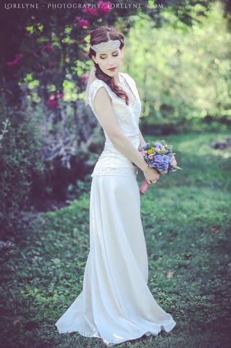 Robe de mariée bohème - champêtre Masha