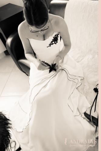 Robe de mariée corsetée sur mesure - Bordeaux - Arcachon