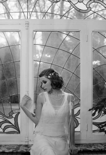 Robe de mariée Charleston - années 20