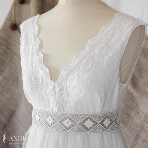 Robe de mariée bohème champêtre 12