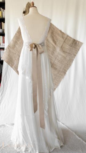 Robe de mariée bohème champêtre 28