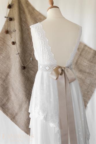 Robe de mariée bohème champêtre 30