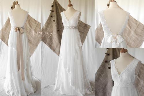 Robe de mariée bohème - champêtre Rayfi