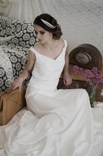 Robe de mariée contemporaine et rock Bordeaux Arcachon