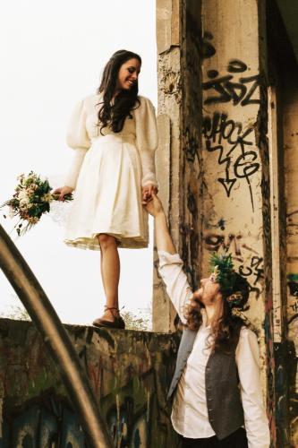 Robe de mariée courte Baby Doll