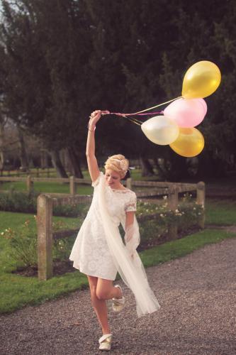 Robe de mariée sixties - années 60