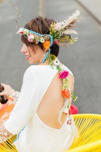 Robe de mariée courte dos nu Santa Monica