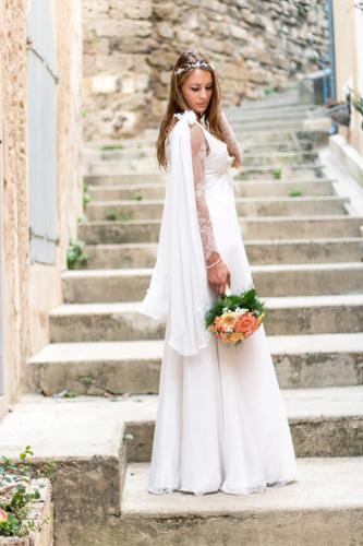 Robe de mariée féerique - elfique Illona