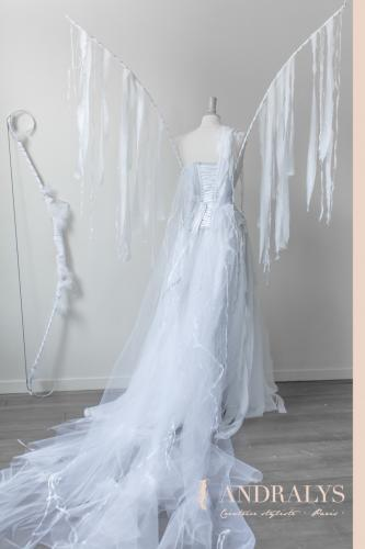 Robe de mariée féerique elfique Bordeaux Arcachon 05