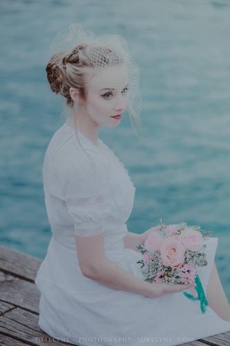 Robe de mariée rétro - vintage Madelyne (13 sur 74)