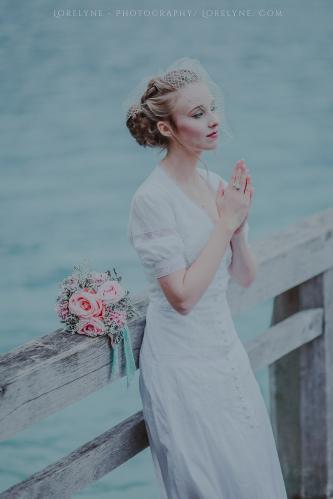 Robe de mariée rétro - vintage Madelyne (41 sur 74)