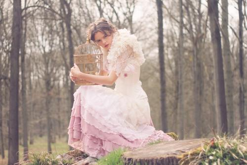 Robe de mariée rétro boudoir 02