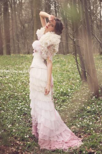 Robe de mariée rétro boudoir 04