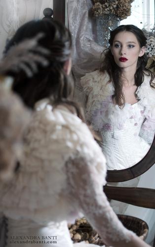 Robe de mariée rétro boudoir 05