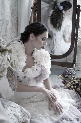 Robe de mariée rétro boudoir 06