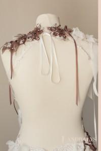 Robe de mariée dos nu sur-mesure à Bordeaux