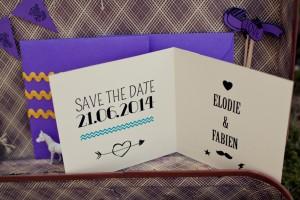 Save the date mariage bohème