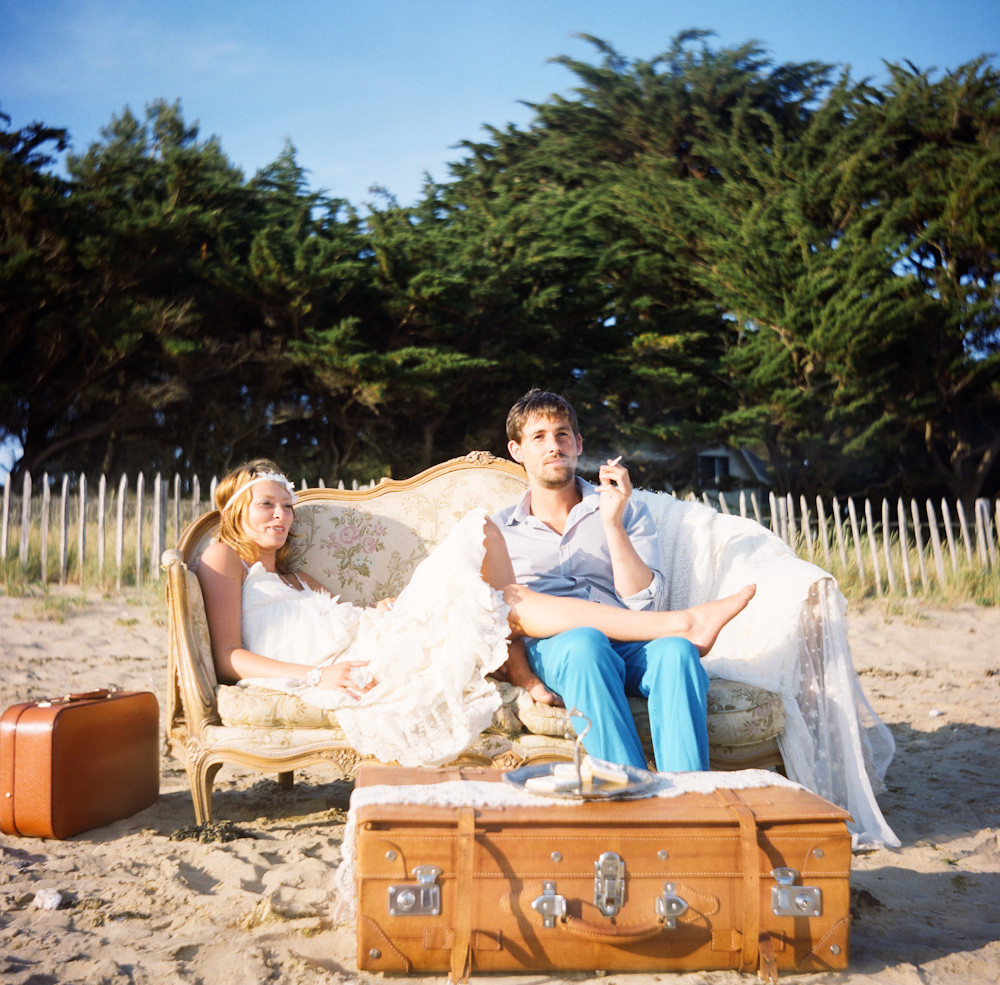 shooting inspiration boho sur la plage