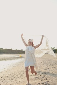 Robe de mariée hippie chic courte