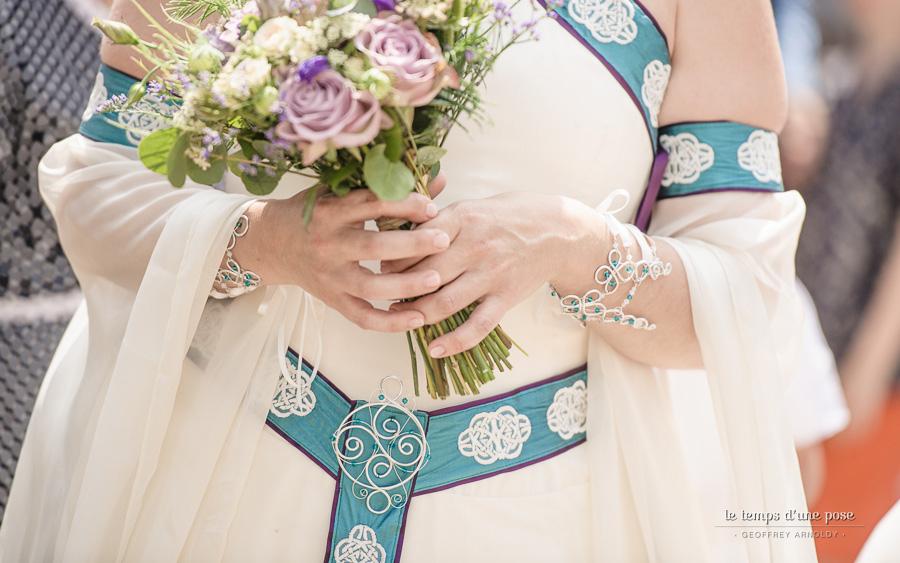 Robe de mariée celtique : la ceinture