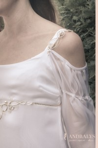 Robe de mariée elfique et bijoux elfiques