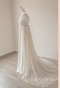 Robe de mariée empire sur mesure à Bordeaux