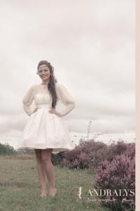 Robe de mariée courte rétro chic hiver