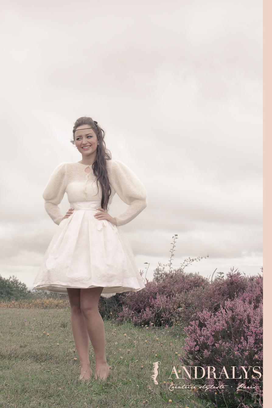 Robe de mariée courte hiver