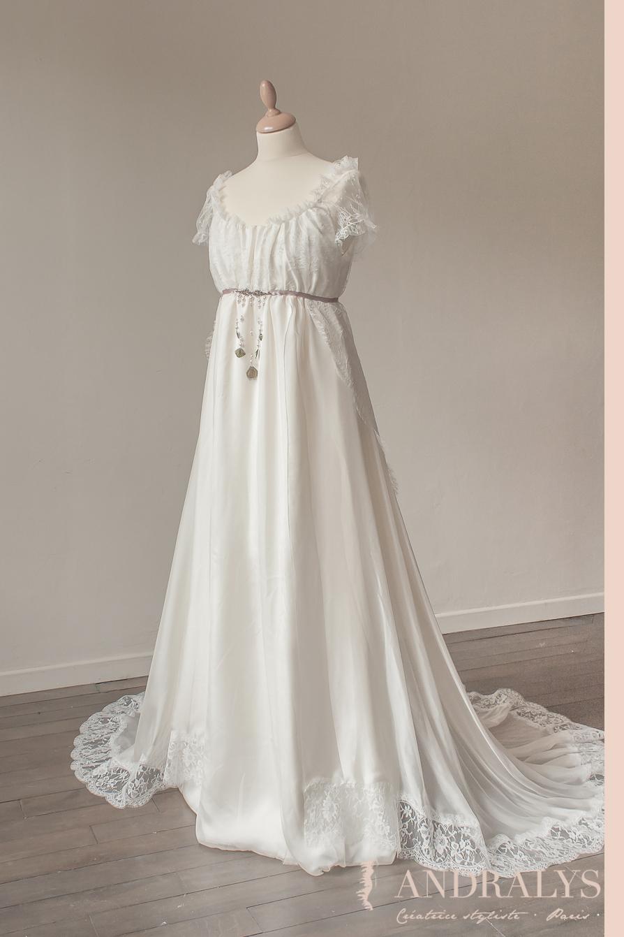 Robe de mariée empire sur mesure