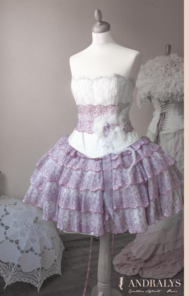 Robe princesse rococo