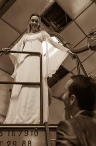 Robe de mariée elfique sur-mesure - Bordeaux