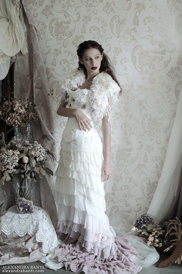 Robe de mariée rétro en Provence