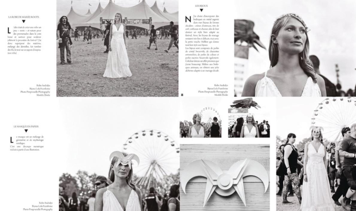 Extrait look book mariage Hellfest