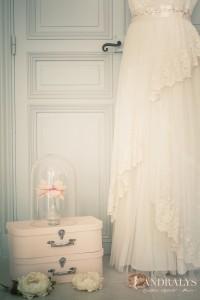 Robe de mariée bohème 2015 Angélique - jupe dentelle