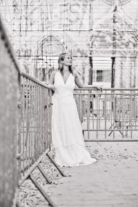 Robe de mariée Bohème au Hellfest